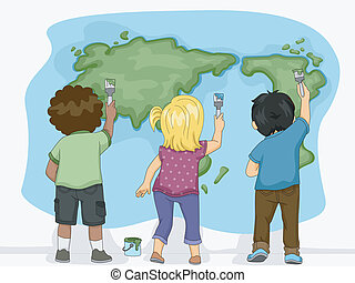 Earth Map Kids