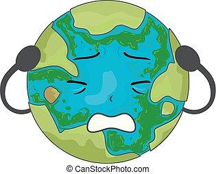 Earth Mascot Algae Illustration