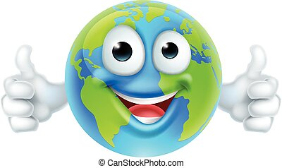 Earth Mascot Cartoon Character