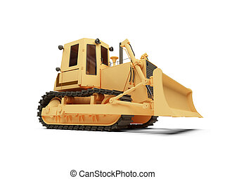 Earth moving machine - isolated earth moving machine on a ...