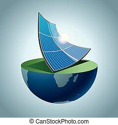 earth., nuovo, energia, concetto, disegno