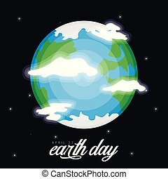 Earth on a space background