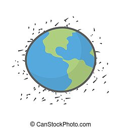 Earth on a white background. Vector illustration