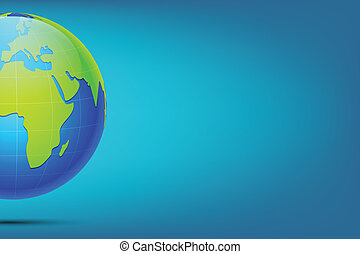 Earth on Abstract Background