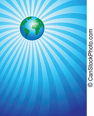 earth on ray background