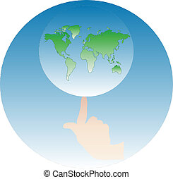 Earth on the finger