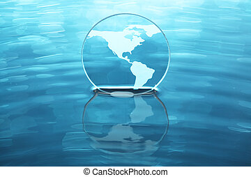 Earth on water