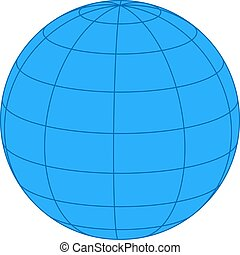 Earth on white background. Vector i