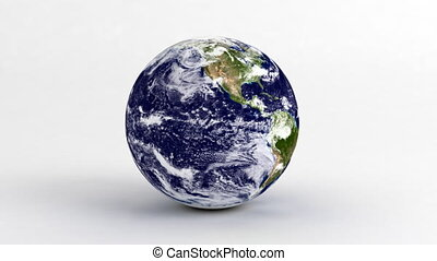 Earth on White.(Seamless)