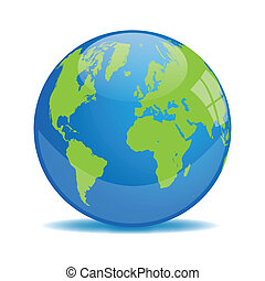 Earth Orb Illustration - Blue and Green Earth Orb