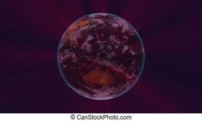 earth orbit night 4k