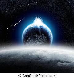 Earth over the Moon