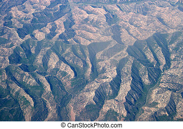 Earth patterns - Patterns of mountain ridges and valles as...
