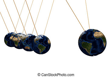 earth pendulum - 3d pendulum made of earth textured sphere....