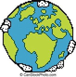 earth., pixel