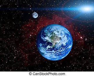 Earth planet in space illustraion