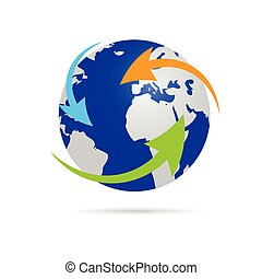 earth planet globe vector