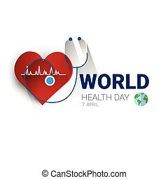 Earth Planet Health World Day Global Holiday Banner With...