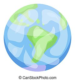 Earth planet icon, isometric style