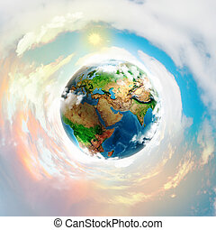 Earth planet - Image of earth planet. Elements of this image...