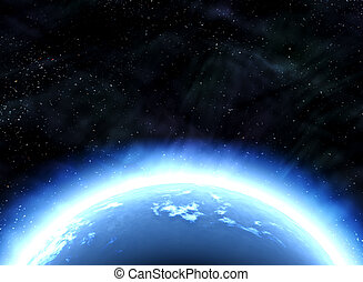 earth planet in space - great image of an earth like planet...