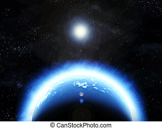 great image of an earth like planet in space