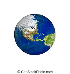 Earth planet isolated on a white background