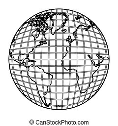 earth planet map icon