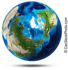 Earth planet real mountains relief