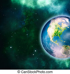 Earth planet, science and environmental backgrounds. NASA...