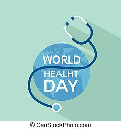 Earth Planet With Stethoscope Health World Day