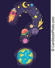 Earth Question Mark Space