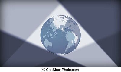 Earth revolving with illumination a