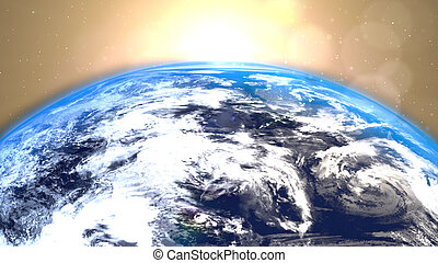 Earth Rotation in Space. Nasa maps.