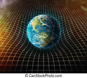 earth s gravity bends space around