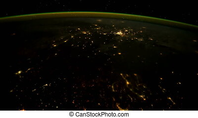 Earth seen from ISS. Elements of this video furnished by NASA.