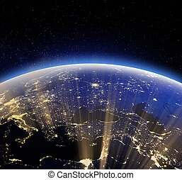 Earth space. Elements of this image furnished by NASA