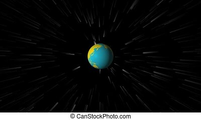 Earth Spinning in Outer Space 1080p - Planet Earth Spinning...