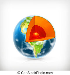 Earth structure, vector