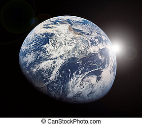 Earth and Outer Space Sunrise