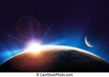 Earth Sunrise Concept