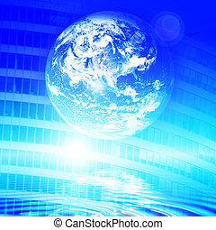Earth technology background
