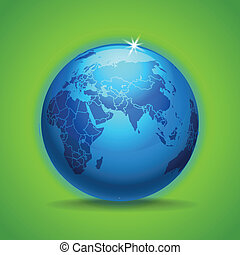 Globe and earth map scheme collection. selectable template.