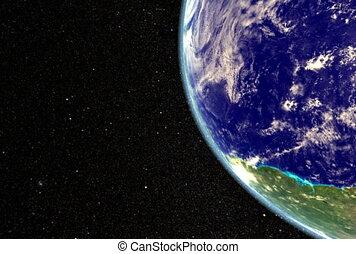 Earth to Moon. CG. ntsc