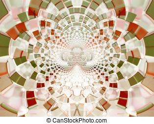 Earth Toned Mosaic Abstract