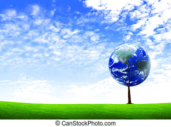 Earth tree, Elements of this image furnished by NASA