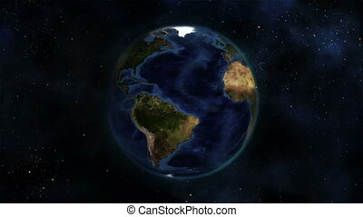 Earth turning on itself with Earth