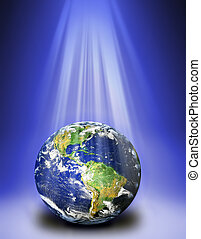 earth under light