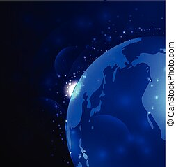 Earth Vector Space Background