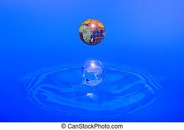 Earth - water drop